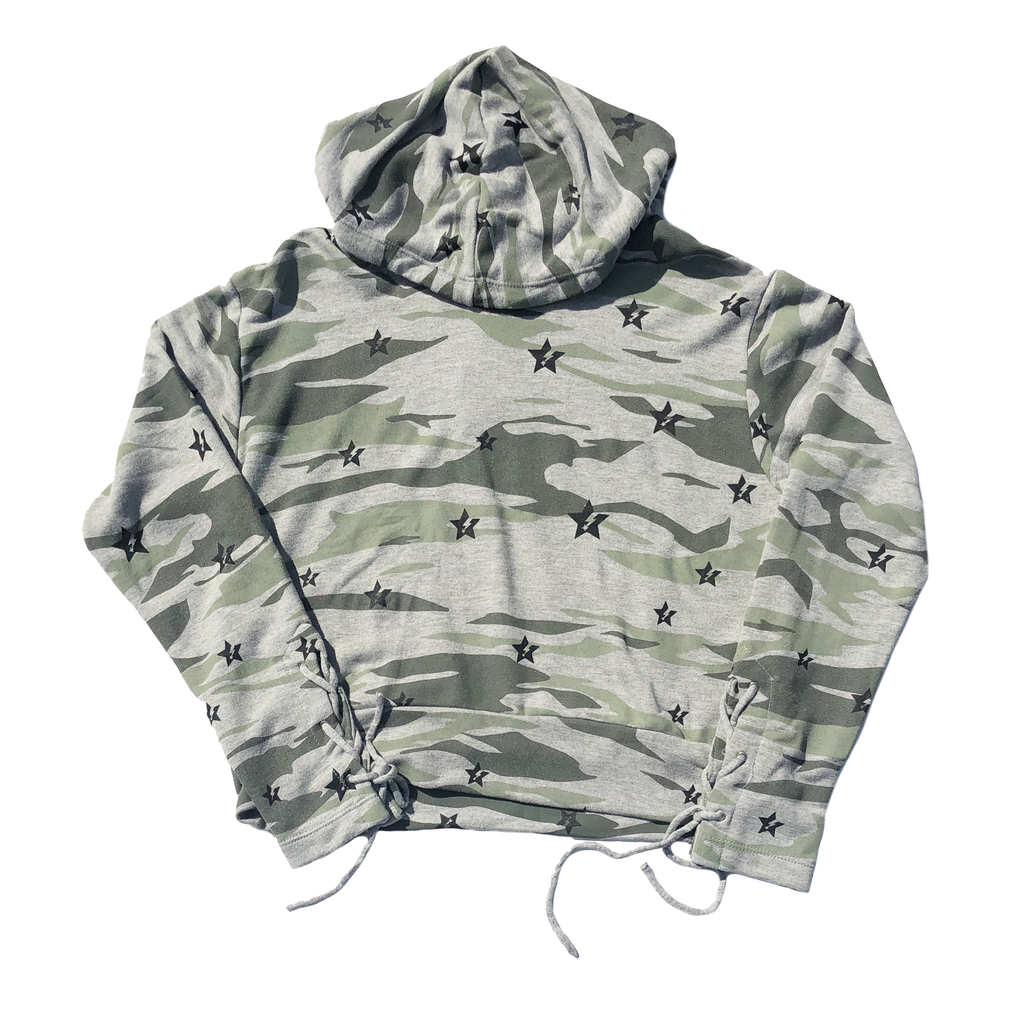Global Love Camo Hoodie with Stars - Global Love