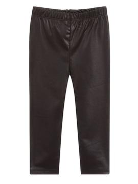 Mayoral Black Faux Leather Legging - Mayoral Girl Clothing