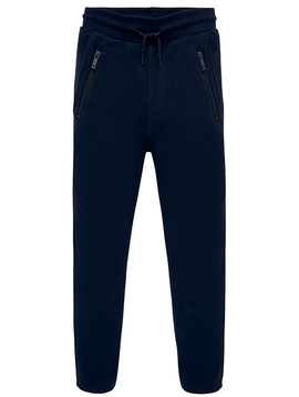 Mayoral Navy Fleece Jogger Pant  w Zippers - Mayoral Boy Clothing