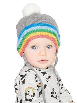 """Bonnie Mob Rainbow """"Hey"""" Knit Hat - Bonnie Mob"""