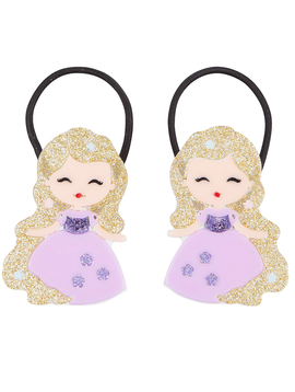 Lilies and Roses Ponytail - Princess Doll Purple - Lilies and Roses NY