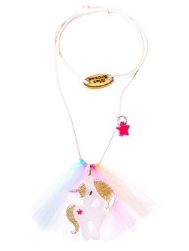 Lilies and Roses Rainbow Unicorn Necklace - Lilies and Roses