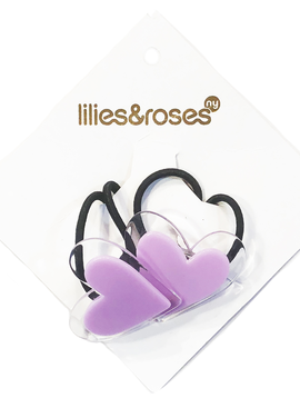 Lilies and Roses Ponytail - Purple Hearts - Lilies and Roses