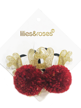 Lilies and Roses Ponytail - Pompom Bells Reindeer - Lilies and Roses