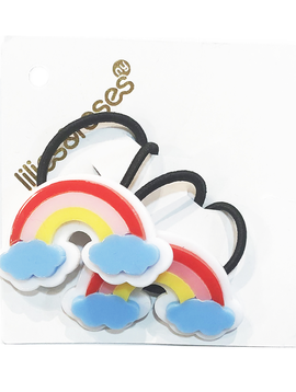Lilies and Roses Ponytail - Rainbow Clouds - Lilies and Roses