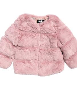 Sugar Bear Mauve Soft Faux Fur Coat