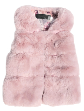 Sugar Bear Mauve Soft Faux Fur Vest