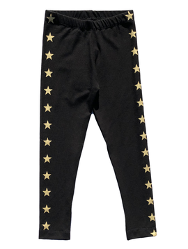 Flowers by Zoe Black Leggings w Gold Stars - Flowers By Zoe