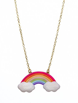 Bottleblond Rainbow and Cloud Necklace - Bottleblond Kids Jewelry