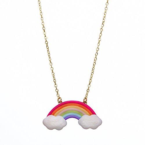 Bottleblond Rainbow and Cloud Necklace - Bottleblond Kids Jewelry