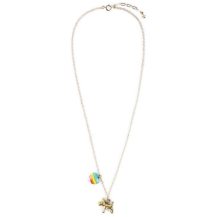 Bottleblond Puppy and Heart Necklace - Bottleblond Kids Jewelry