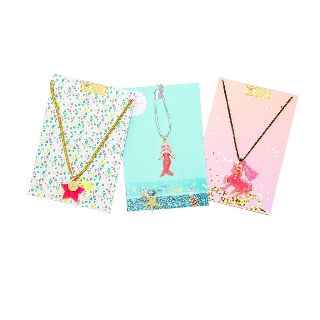 Bottleblond Sunshine Pom Pom Rainbow Necklace - Bottleblond Kids Jewelry