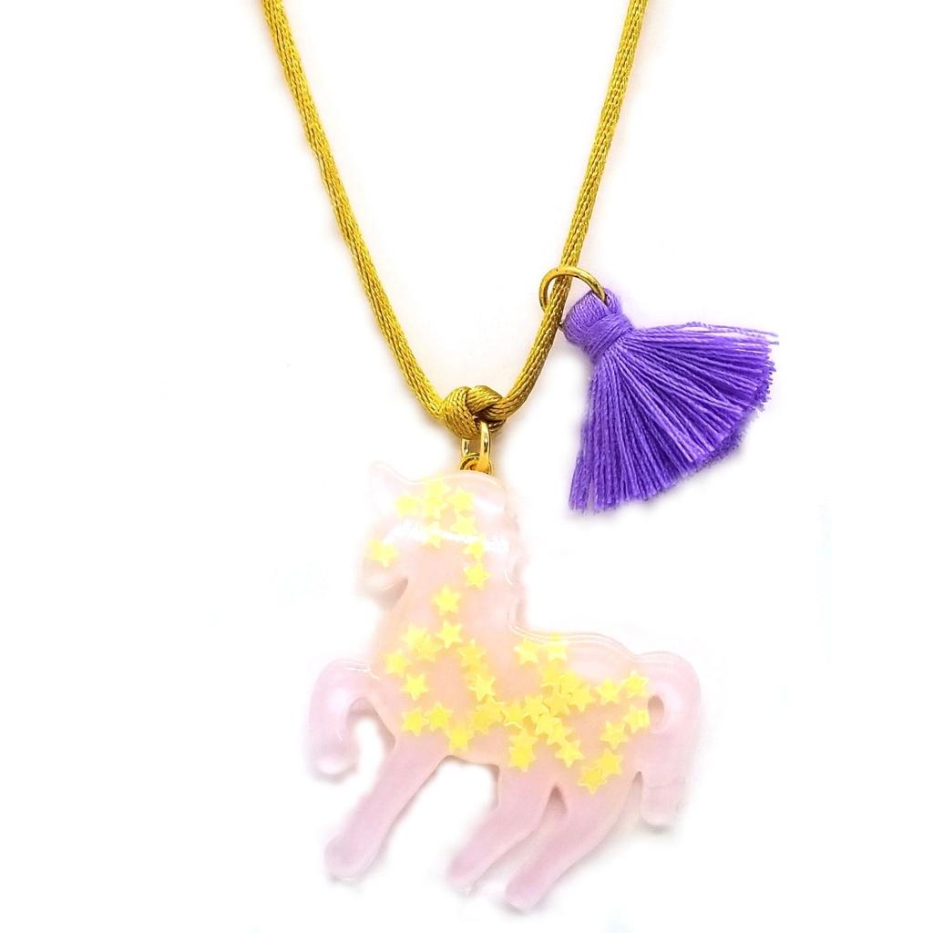 Bottleblond Lavender Sparkly Unicorn Pendant - Bottleblond Kids Jewelry