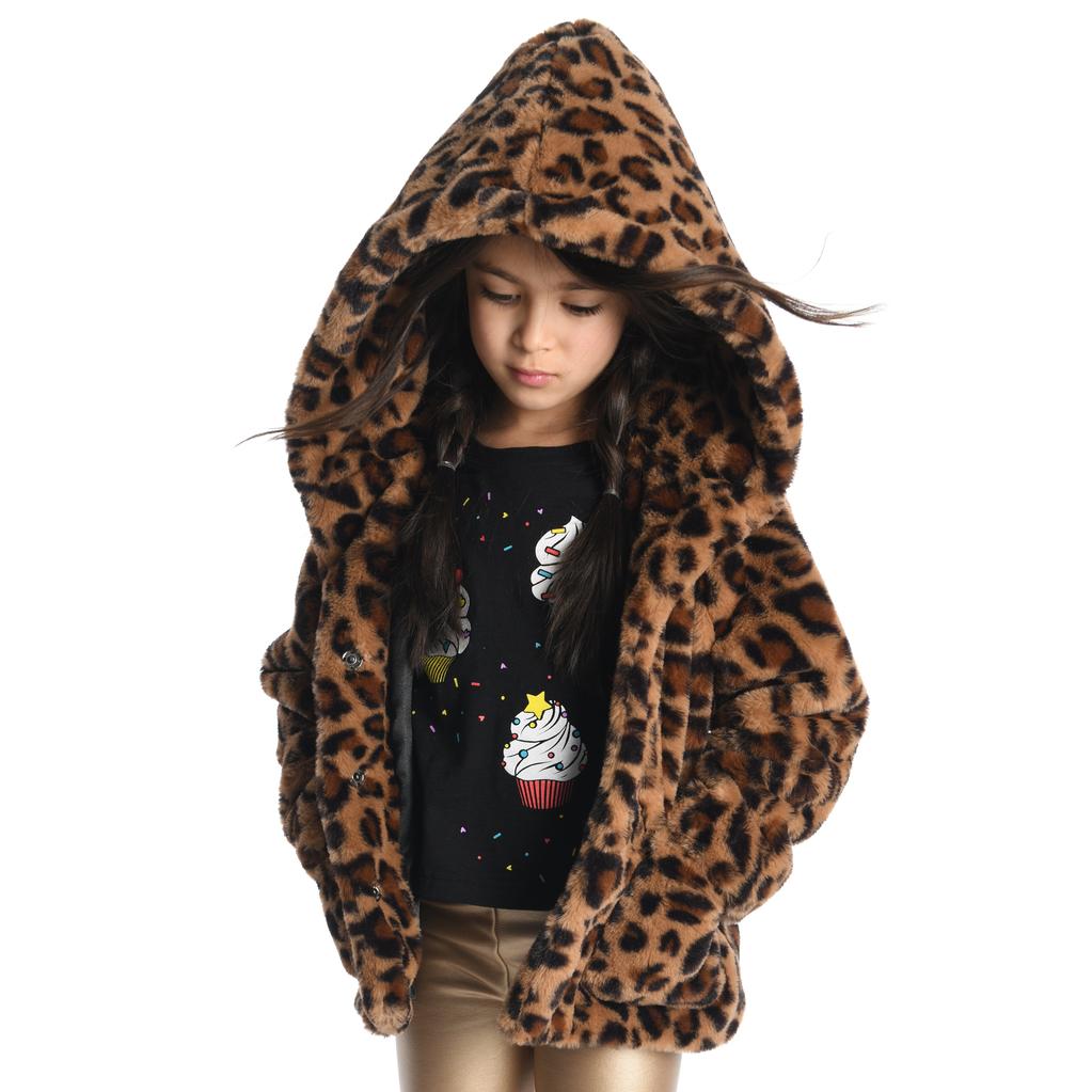 Appaman Cleo Faux Leopard Coat - Appaman Kids Clothing