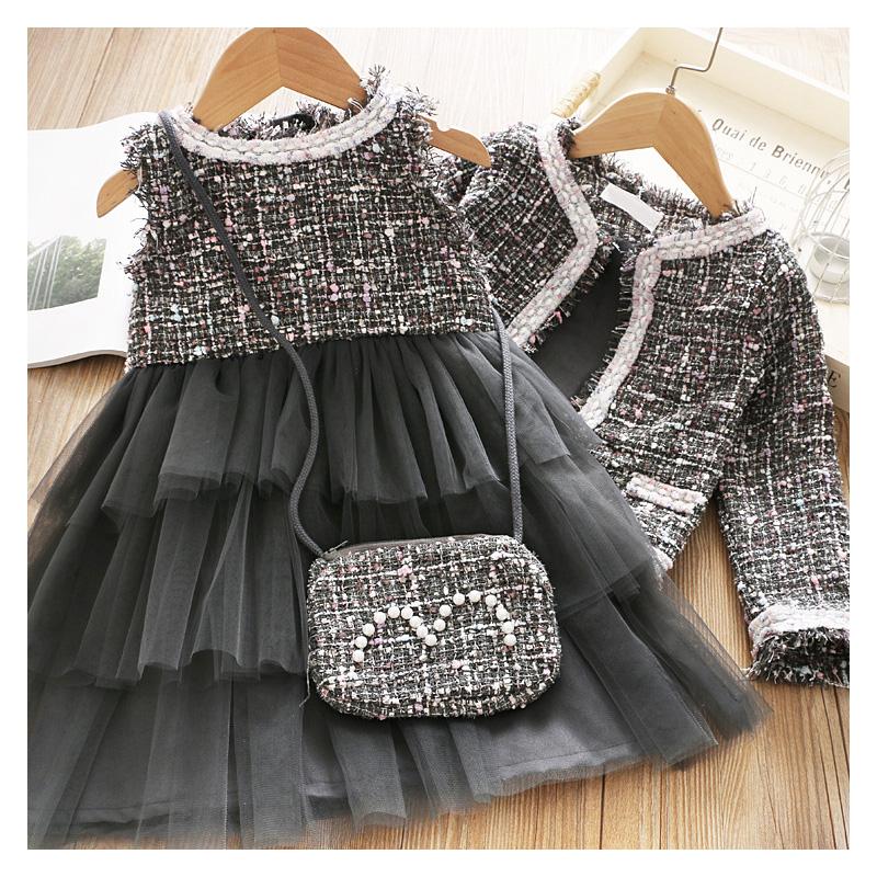 Survolte Tweed Dress with Jacket Set