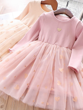 Survolte Hearts Pink Tulle Dress