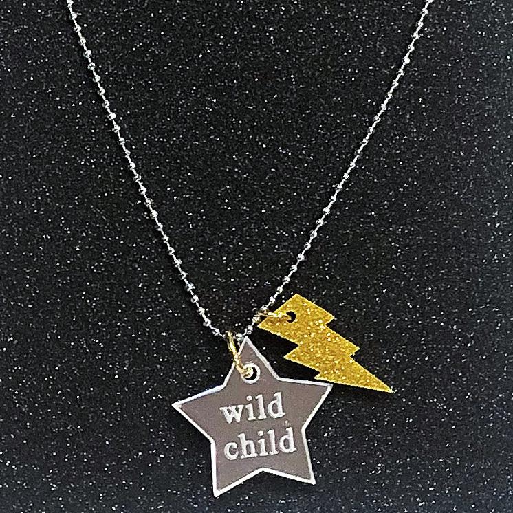 Bottleblond Mirror Star Wild Child Necklace - Bottleblond Kids