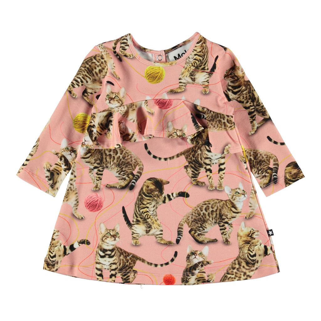 molo Coletta Dress - Leopard - Molo Kids Clothing