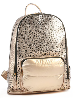 Bari Lynn Scattered Star Backpack - Black/ Gold - Bari Lynn Accessories