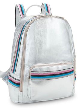 Bari Lynn Silver Shimmer Backpack w Taping - Bari Lynn Accessories