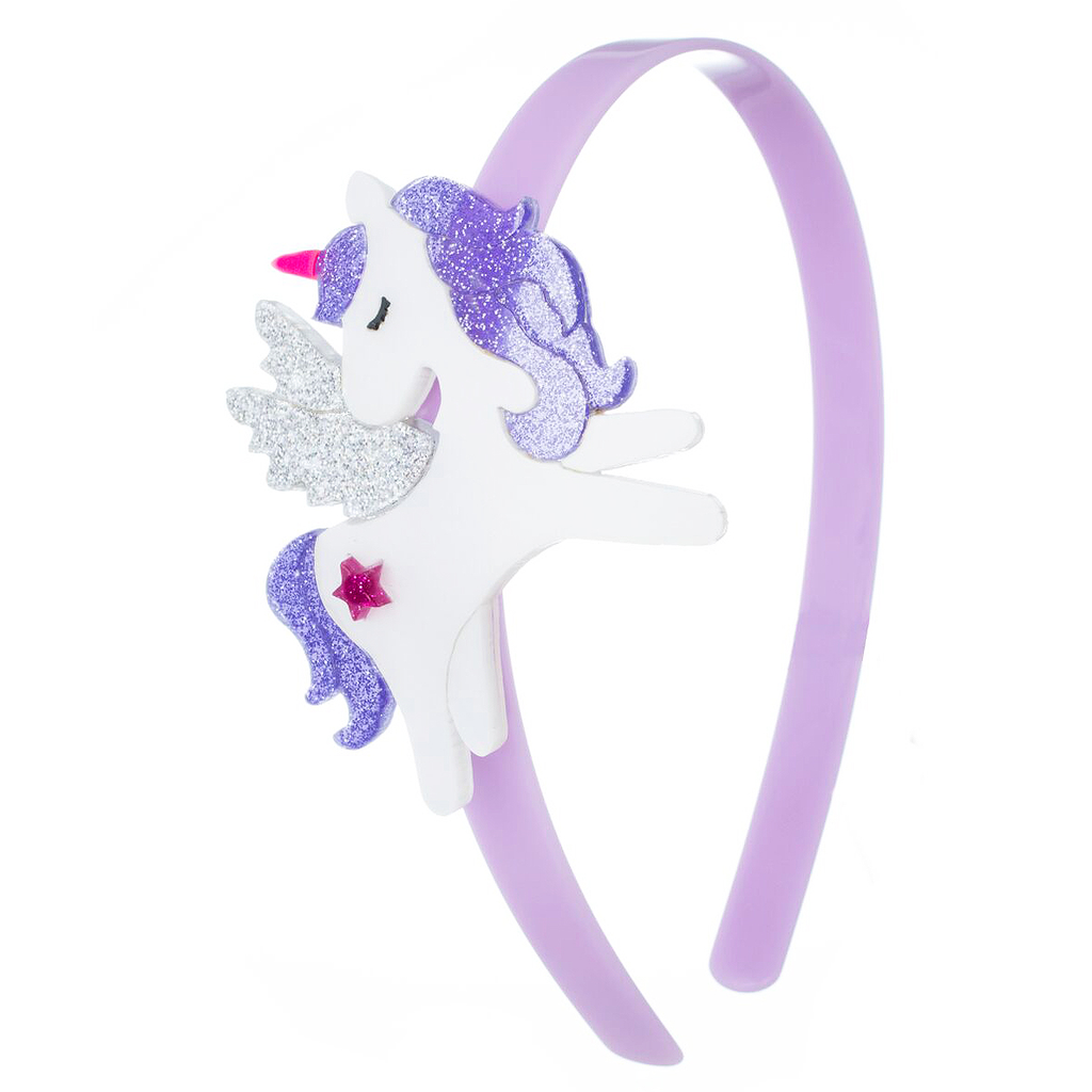 Lilies and Roses Headband - Unicorn Wings Purple - Lilies and Roses NY