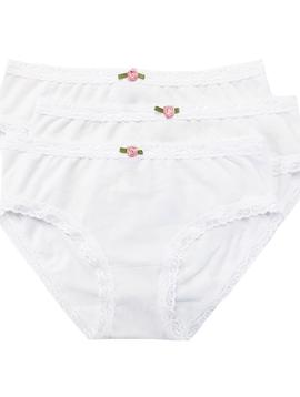 Esme Loungewear Panty 3-pack - White