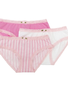 Esme Loungewear Esme Panty Pack - Blush Stripe
