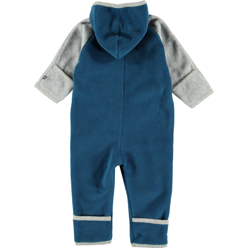 molo Udo Fleece - Ocean Blue Block - Molo Baby Outerwear 2019