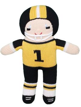 Zubels Football Gold/ Black - Zubels Knit Dolls
