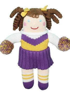 Zubels Purple Cheerleader - Zubels Knit Dolls