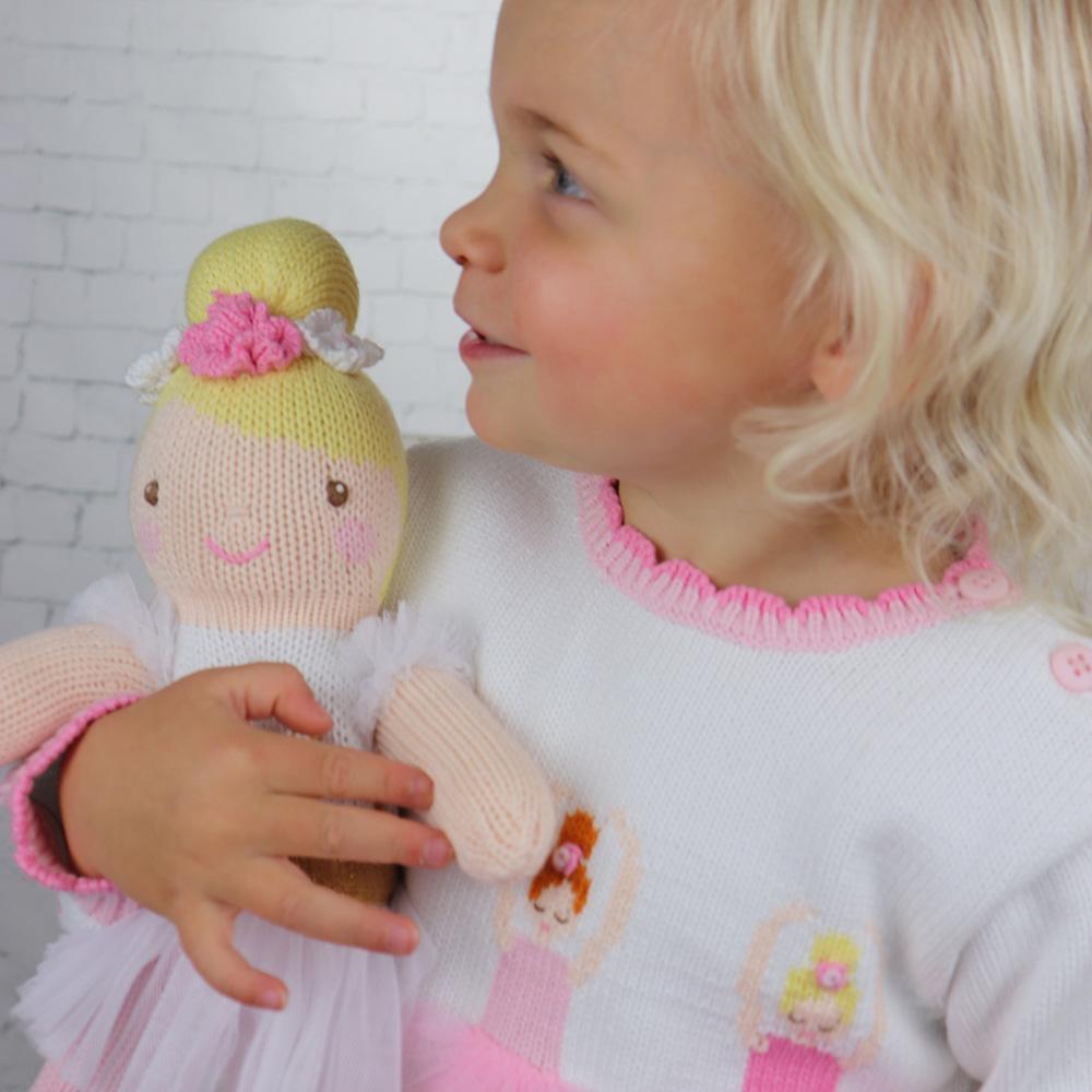 Zubels Ballerina in White - Zubels Knit Dolls