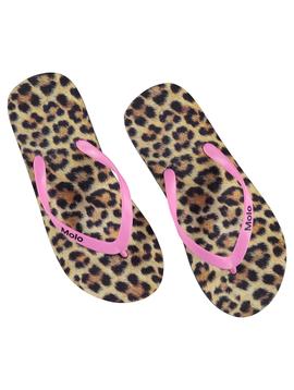 molo Zeppo Flip Flop - Leopard - Molo Kids Swimwear