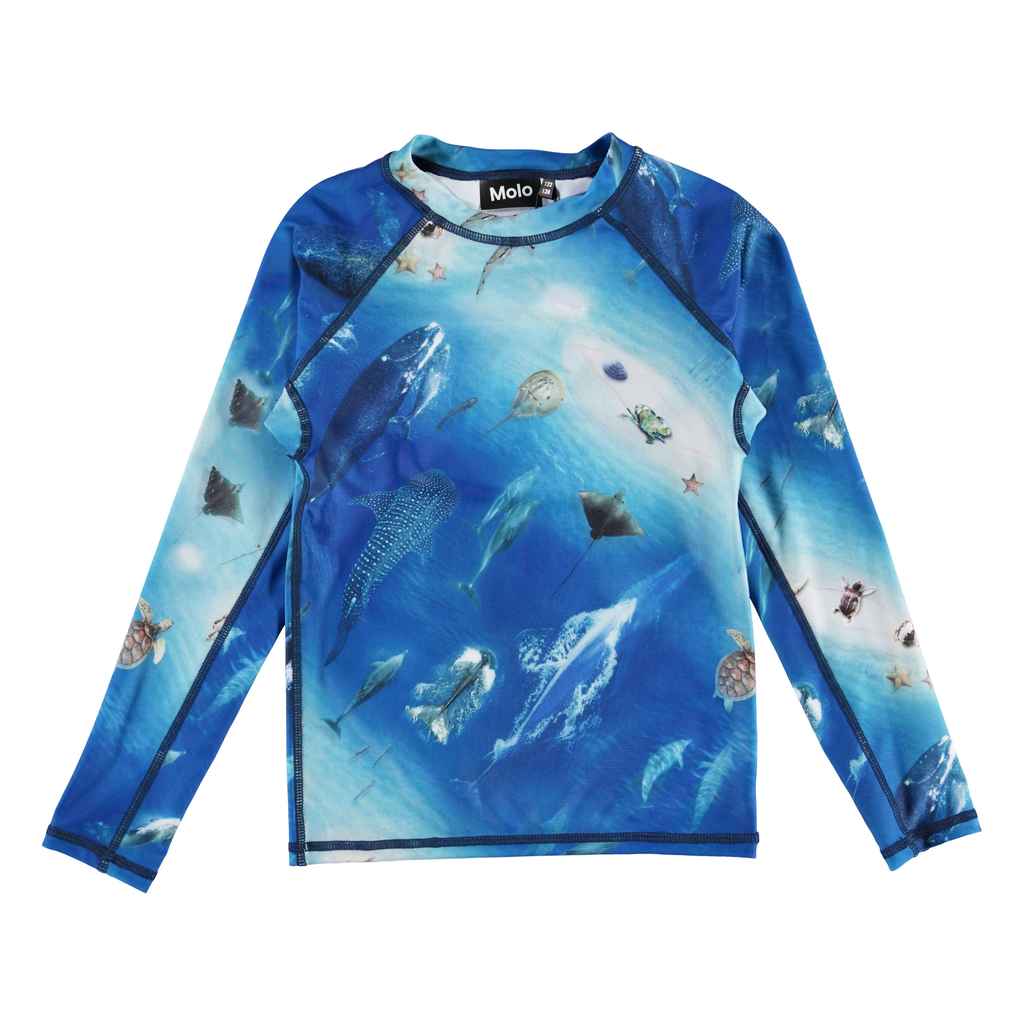 molo Neptune Rash Guard - Ocean - Molo Kids Swimwear