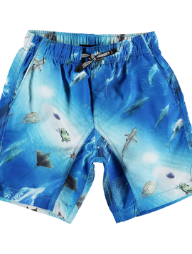 molo Nario Swim Trunk - Ocean - Molo Kids Swimwear