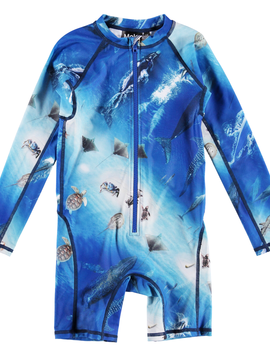 molo Neka Rash Guard - Ocean - Molo Kids Swimwear