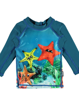 molo Nemo Rash Guard - Moody Stars - Molo Baby Swimwear