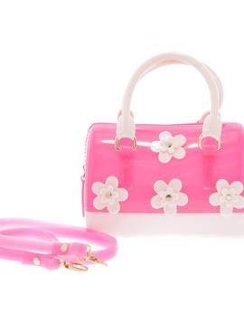 Doe a Dear Flowers Barrel Jelly Hand Bag - Doe a Dear