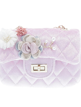 Doe a Dear Flower Appliques Quilted Purse - Doe a Dear