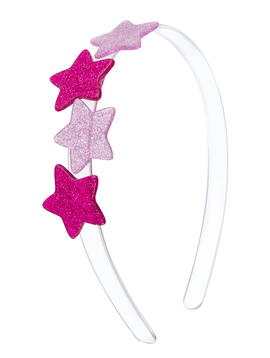 Lilies and Roses Headband - Pink Stars - Lilies and Roses