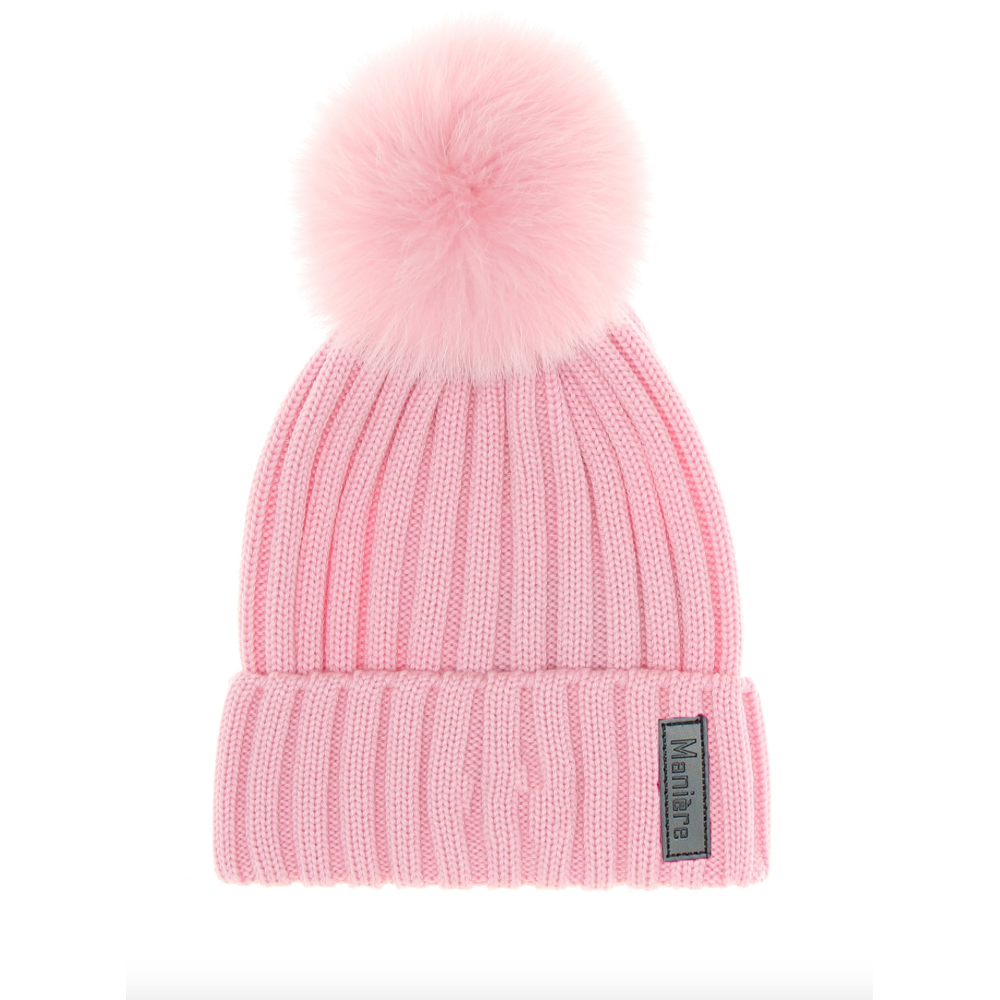 Maniere Kids Merino Wool Hat - Light Pink - Maniere