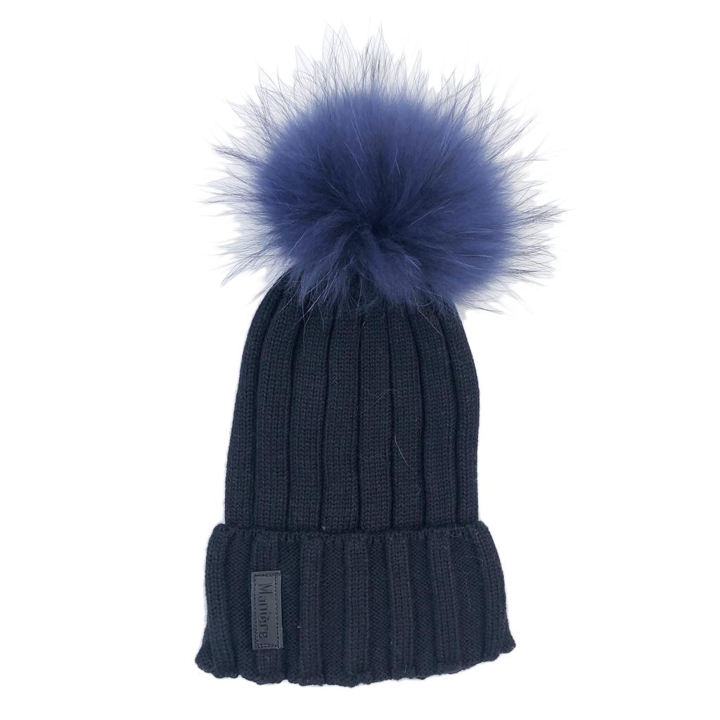 Maniere Adult Merino Wool Hat - Black - Maniere