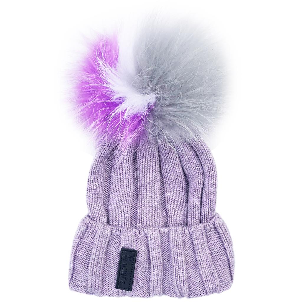 Maniere Kids Merino Wool Hat - Pale Purple - Maniere