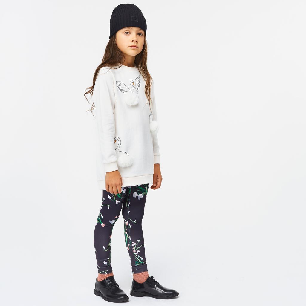 molo Nikia Leggings - Snowdrops - Molo Kids
