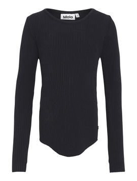molo Rochelle Ribbed Top - Black - Molo Kids Clothing