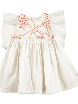 molo Carolle Ivory Dress - Molo Kids Clothing