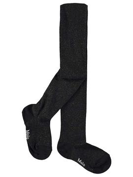 molo Black Glitter Tights - Molo Kids Clothing