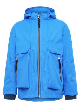 molo Casper Blue Rain Jacket - Molo Kids Clothing
