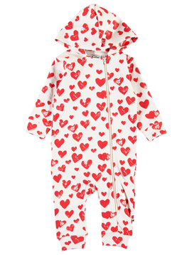 molo Baby Red Hearts Romper - Fowo - Molo Kids Clothing