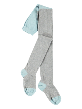 molo Glitter Tights - Silver Blue - Molo Kids Clothing