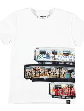 molo Raven Subway Graffiti Shirt - Molo Kids Clothing